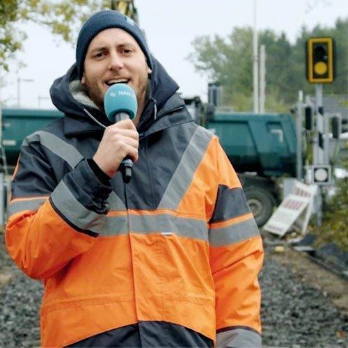 Schwentinebrücke: Lars besucht Baustelle